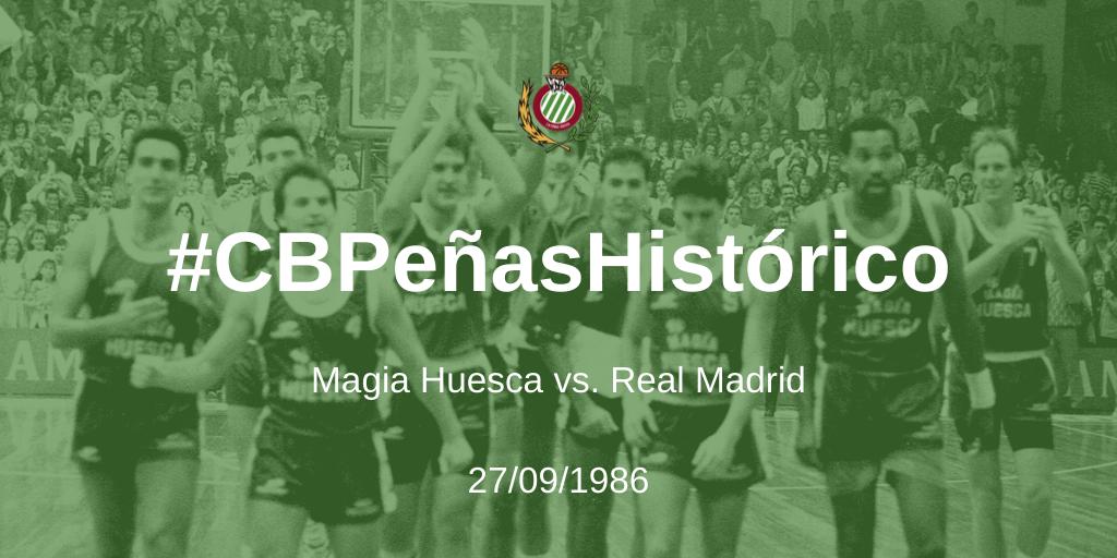#CBPeñasHistórico | Magia Huesca – Real Madrid 1986