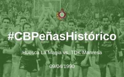 #CBPeñasHistórico   Huesca La Magia – TDK Manresa 1989-1990