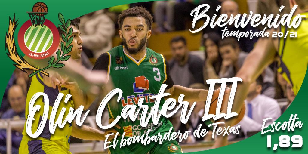 FICHAJE | Olin Carter III continuará la próxima temporada en CB Peñas