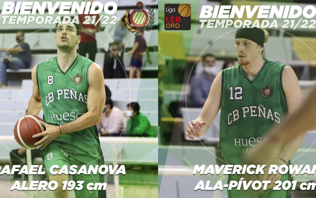 FICHAJES | Rafael Casanova y Maverick Rowan completarán la temporada con Levitec Huesca La Magia